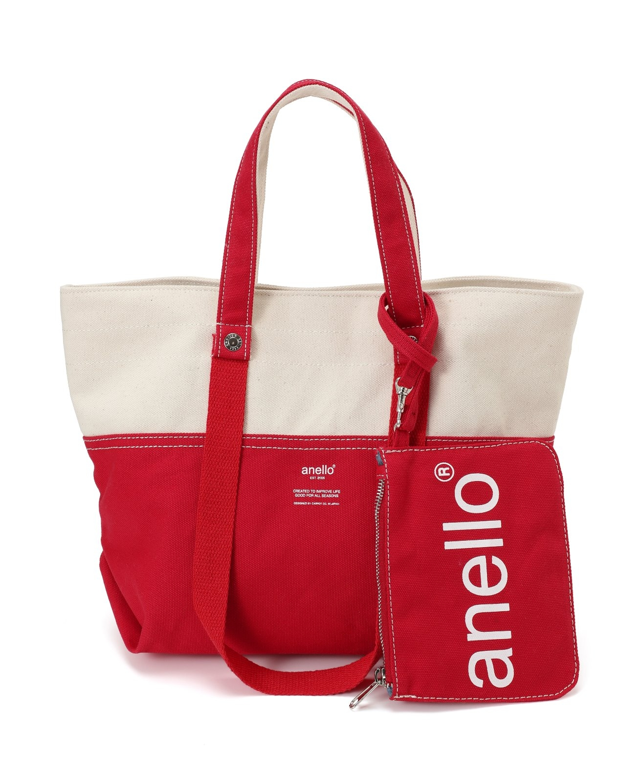 Japan official store limited item Cotton canvas  anello  logo printed  2ways tote bag 3f5b402c77914