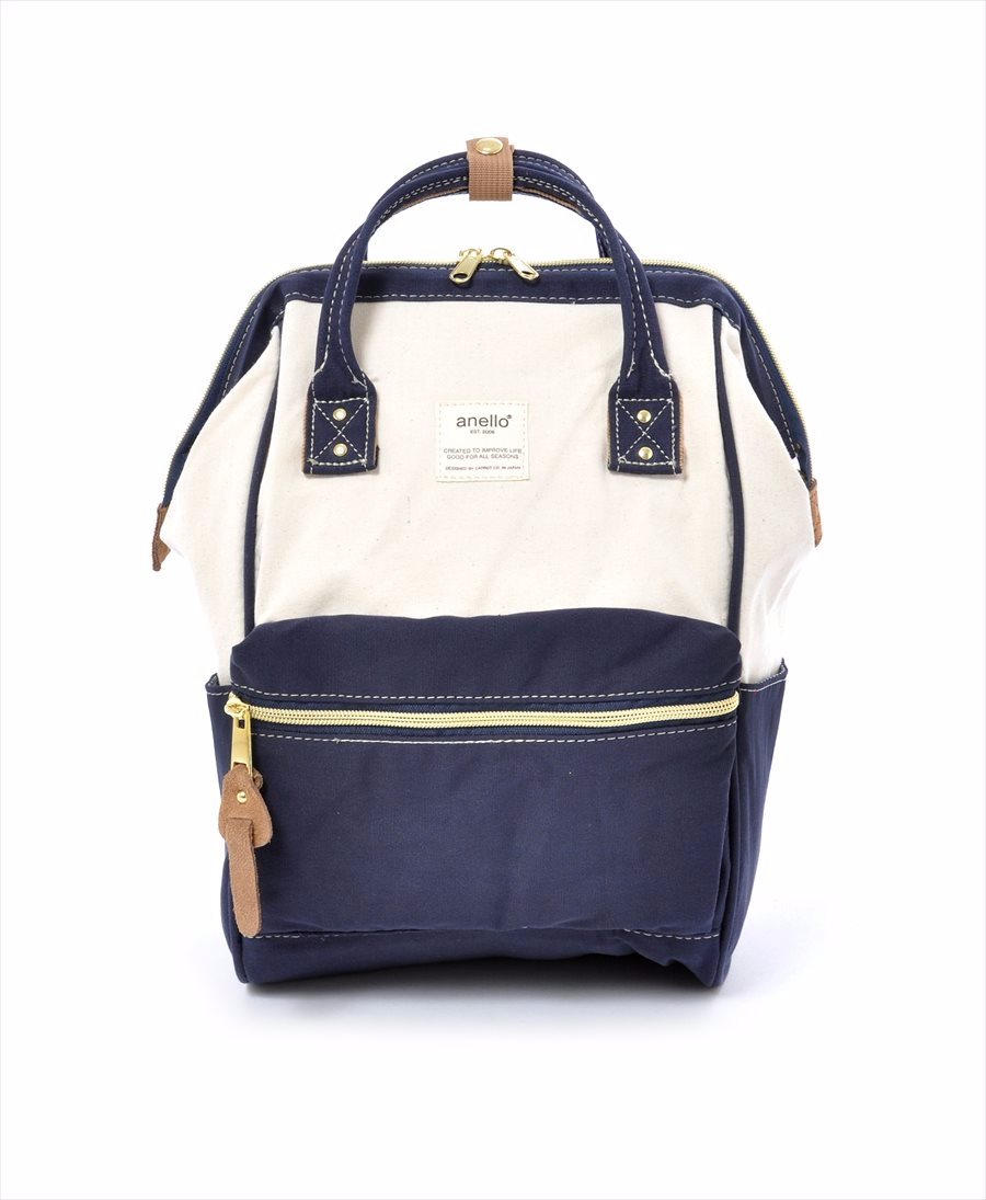 ... Cotton Canvas Hinged Clasp Mini Backpack